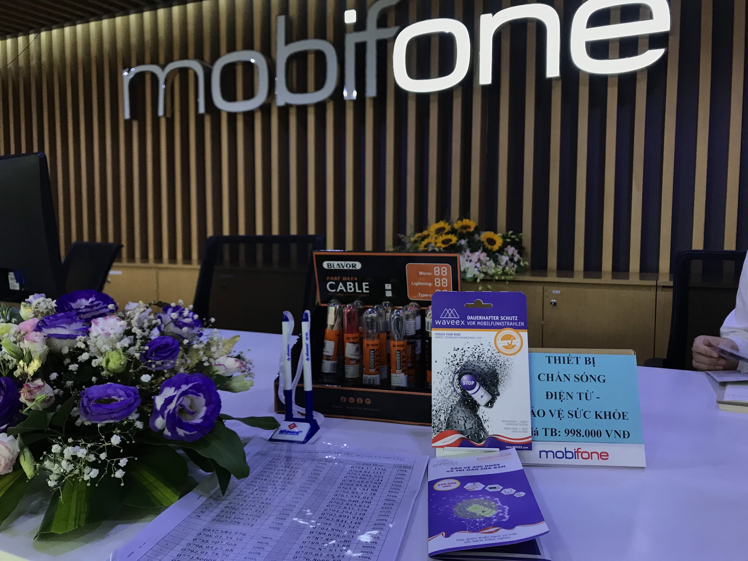 Mobifone phân phối Chip chắn bức xạ điện từ Waveex - Waveex Việt Nam